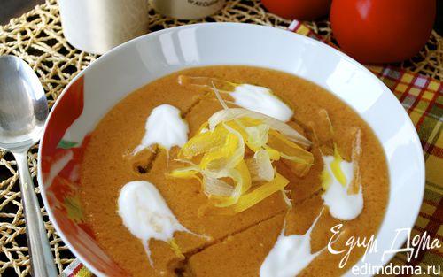 Рецепт Холодный томатный суп-пюре