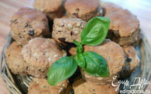 Рецепт Сырные сконы с оливками и вялеными томатами