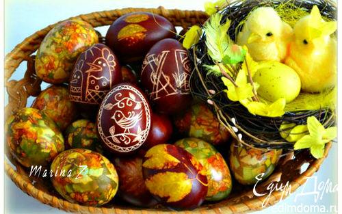 "Рецепт Пасхальные яйца: ""крашенки"" и ""царапанки"""