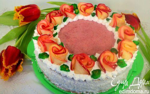 Рецепт Торт «Венок из роз»