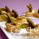Тарталетки с сыром и копчеными ракушками