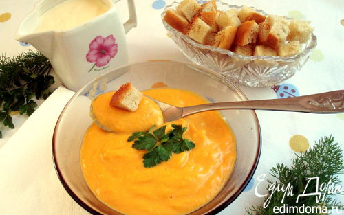 Рецепт Овощной крем-суп из имбиря