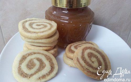 Рецепт Печенье спиральки с грецкими орехами и корицей