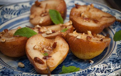 Рецепт Запеченные груши с миндалем и корицей