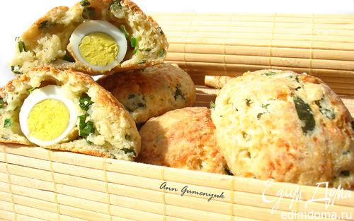 Рецепт Сырные булочки с яйцом