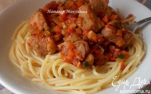 Рецепт Паста с мясом и овощами