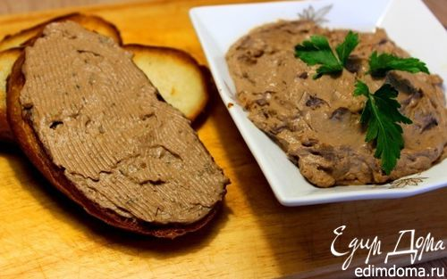Рецепт Паштет из куриной печени с грибами