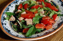 Теплый салат «Три фасоли»
