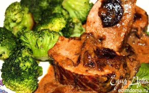 Рецепт Свиная вырезка с черносливом