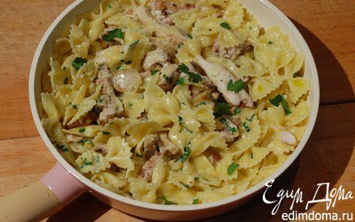 Рецепт Паста с курицей и белыми грибами