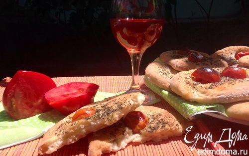Рецепт Фокачча с помидорами черри и итальянскими травами