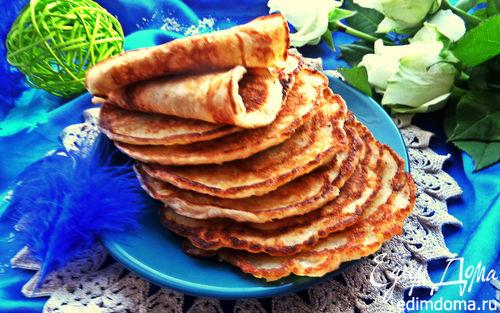 Рецепт Блинчики с кокосом и отрубями