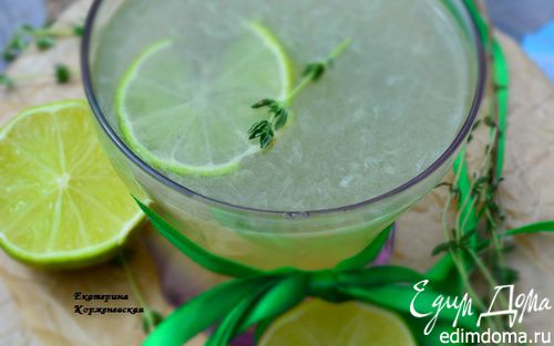 Рецепт Лимонад с тимьяном и лаймом