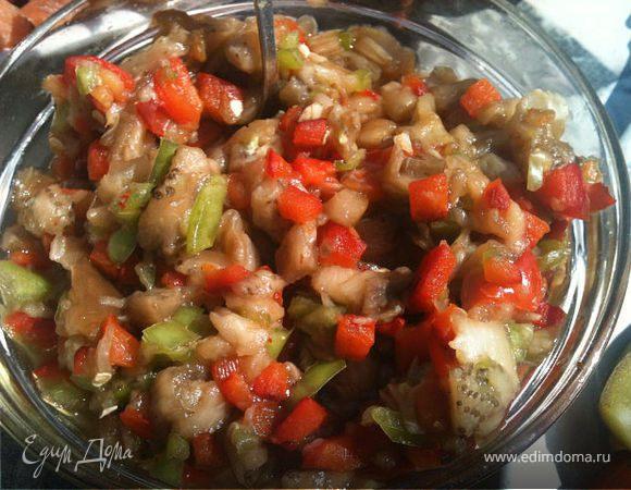 Любимый соус к шашлыку из печеных овощей