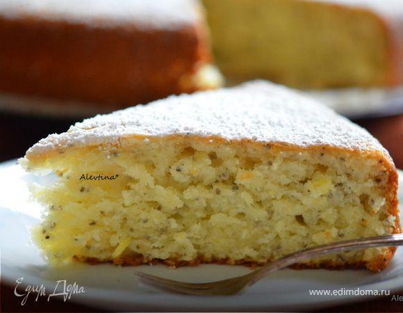 Кекс лимонный с семенами чиа