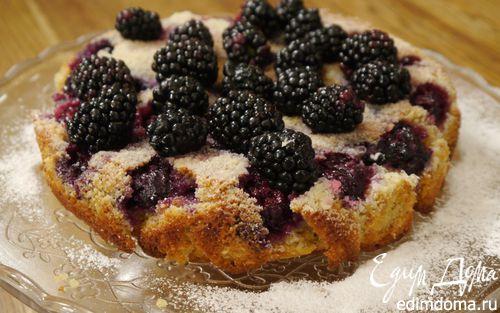 Рецепт Сметанный пирог с ежевикой и голубикой