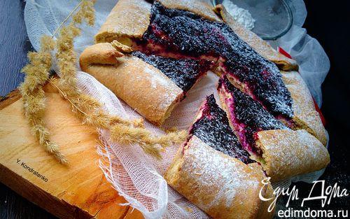Рецепт Галета с творогом и черной смородиной