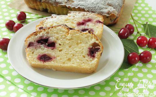 Рецепт Творожный кекс с вишней