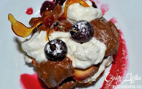 Рецепт Дивный сырный десерт с белым и темным шоколадом