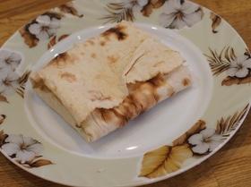 Утренний бутерброд с лавашом в тостере