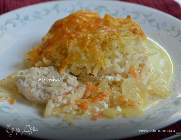 Запеканка с картофелем и куриными грудками