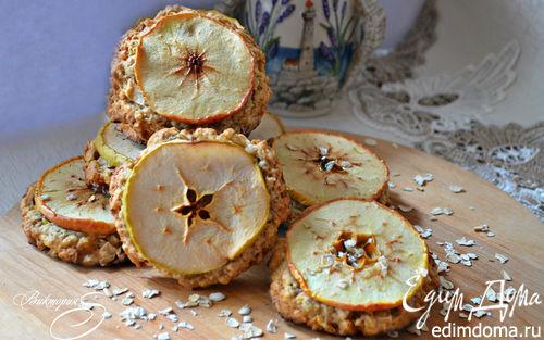 Рецепт Овсяное печенье с яблоками