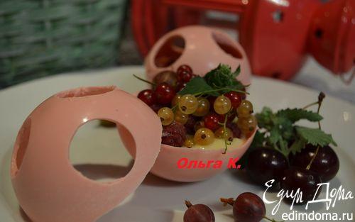 Рецепт Клубничные шоколадные шары с лимонным кремом