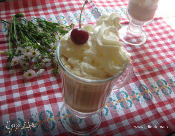 """Кофейно-вишневый коктейль """"Утреннее наслаждение"""""""