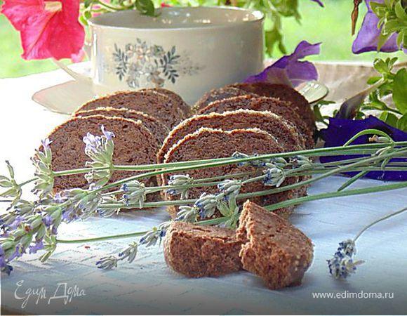 Шоколадное печенье с лавандой