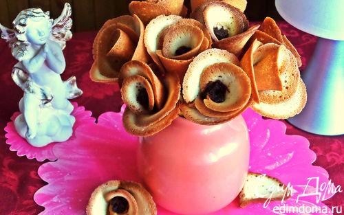 Рецепт Букет хрупких роз к чаю