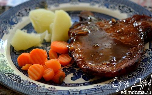 Рецепт Свиные отбивные с апельсиново-имбирным соусом