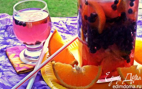 Рецепт Напиток чернично-цитрусовый