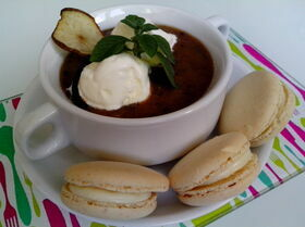 Ванильно-ягодный десертный суп