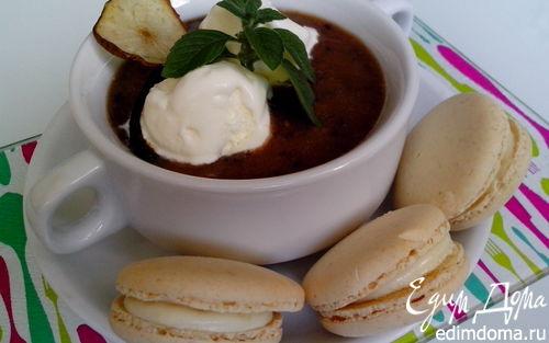 Рецепт Ванильно-ягодный десертный суп