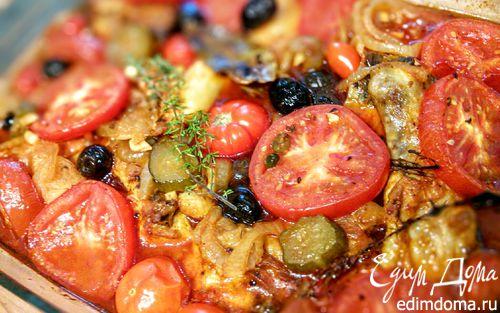 Рецепт Курица, тушеная с помидорами по-средиземноморски