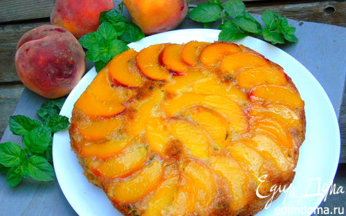 Рецепт Апельсиново-мятный кекс с нектарином