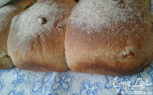 Рецепт Булочки-саечки цельнозерновые с изюмом