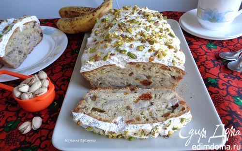 Рецепт Бананово-фисташковый кекс под молочно-маковой глазурью