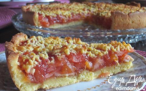 Рецепт Летний яблочно-персиковый пирог