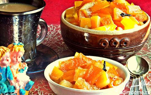 Рецепт Варенье из апельсиновых корочек с имбирём