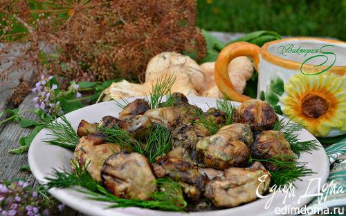 Рецепт Шампиньоны, приготовленные на гриле