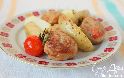 Рецепт Тефтели из индейки с запеченным картофелем
