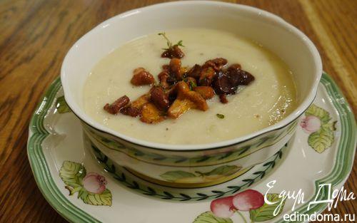 Рецепт Суп из сельдерея с каштанами и лисичками