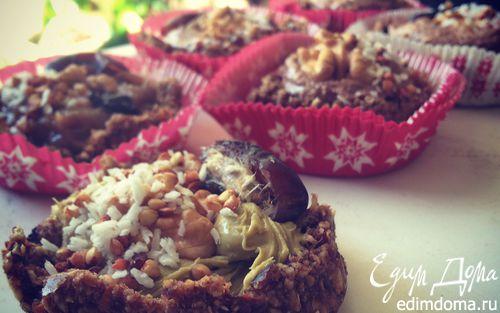 Рецепт Веганские корзиночки с шоколадным ганашем