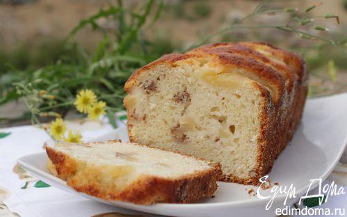 Рецепт Кекс с творогом, грушей и грецким орехом