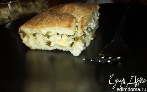 Рецепт Заливной пирог с зеленым луком и яйцом