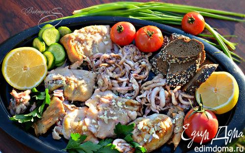 Рецепт Кальмары и щупальцы, приготовленные на гриле по-черногорски