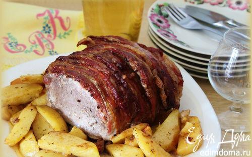 Рецепт Праздничная свинина в беконе