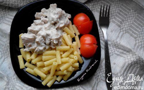 Рецепт Куриное филе в сметано-чесночном соусе