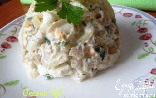Рецепт Салат с солеными груздями